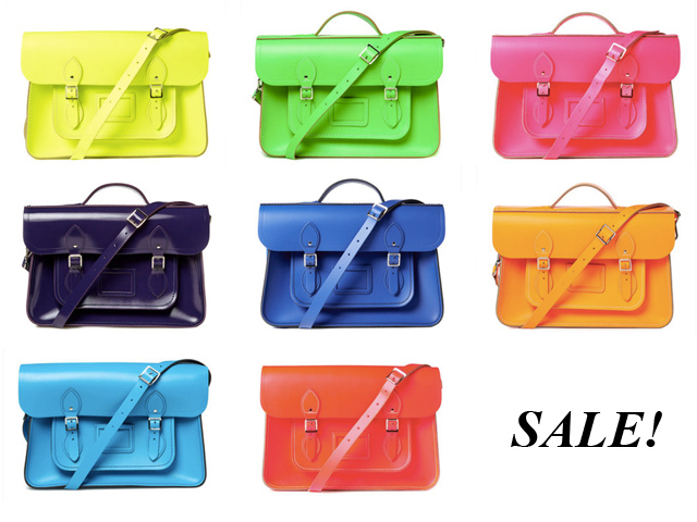 sale on handmade leather messenger bags by cambridge satchel company