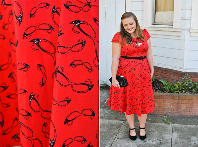 voodoo vixen, red dress, retro, pinup girl style, outfit, ootd
