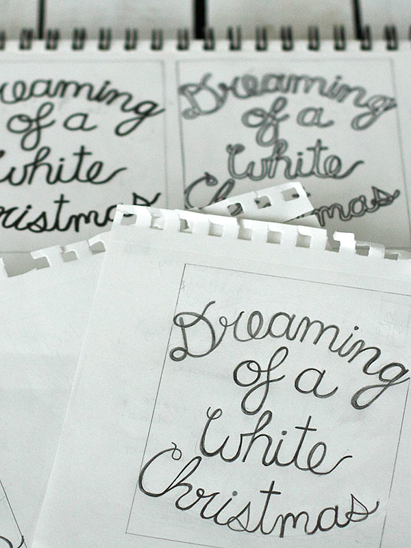 sketching, typography, Christmas