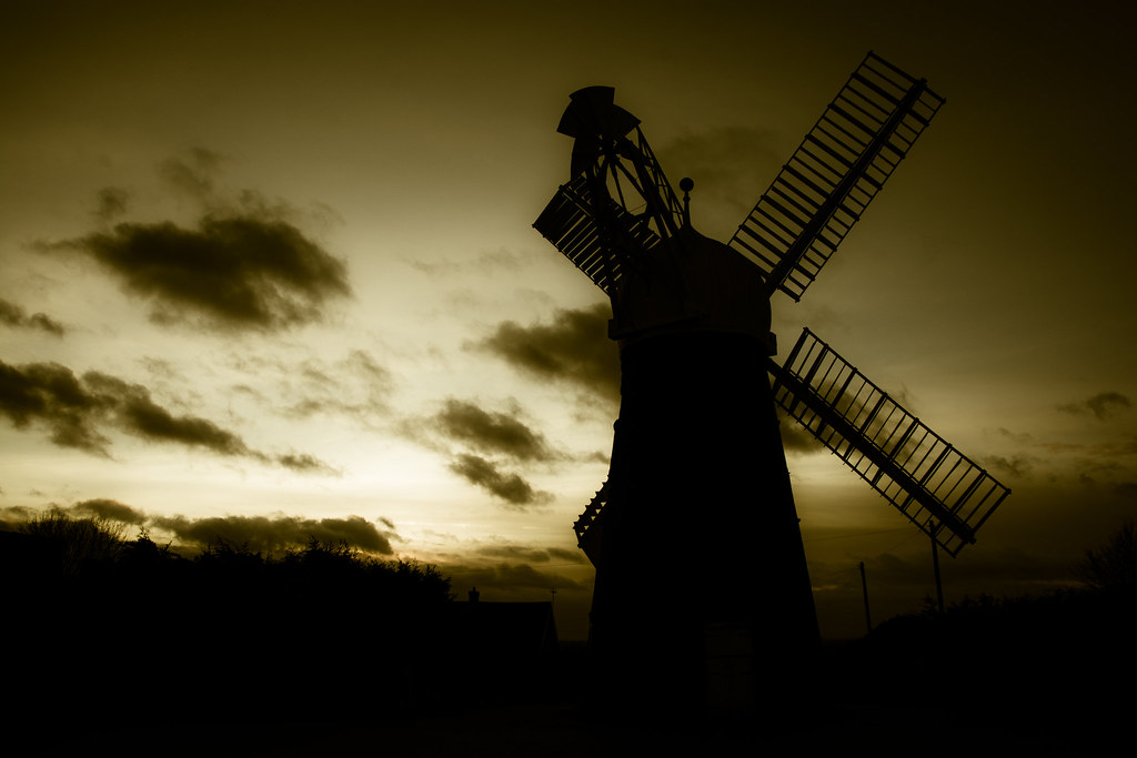 ellis windmill, architecture, lincoln, lincolnshire, sunset