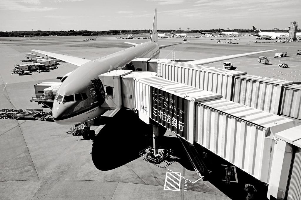 KLM, just landed at Narita airport, Japan