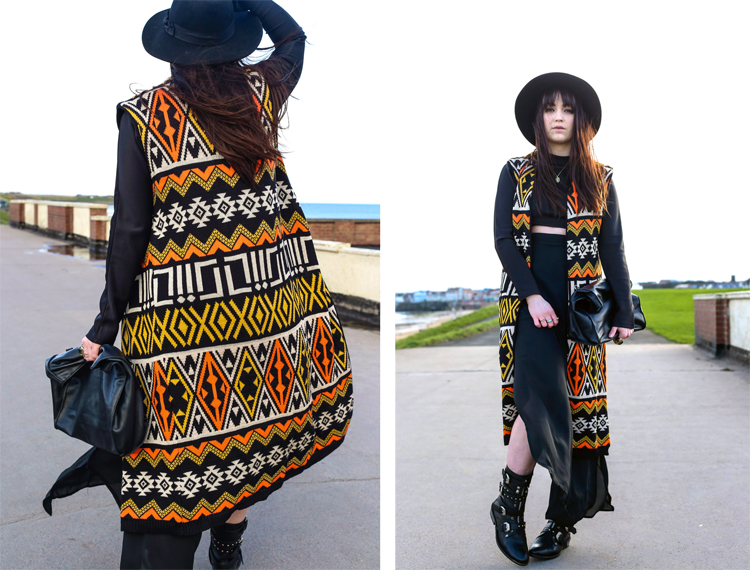 orange white yellow aztec patten, Navajo, gypsy prints, boho look, hippy girl