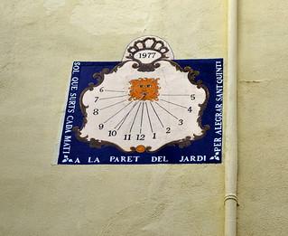 Rellotge de Sol, Sant Quintí de Mediona.