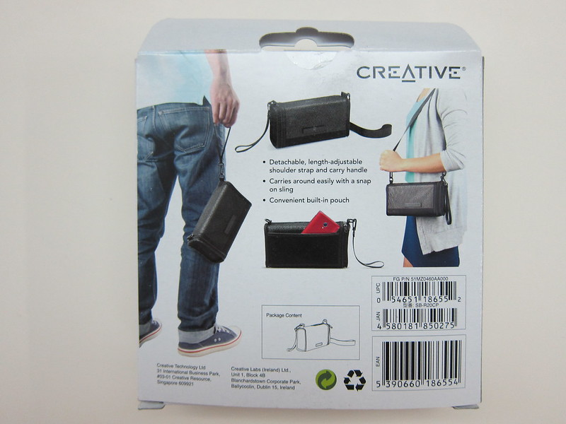 Creative Sound Blaster Roar Carry-bag - Packaging Back