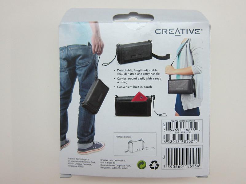 Creative Sound Blaster Roar Carry-bag - Packaging Back