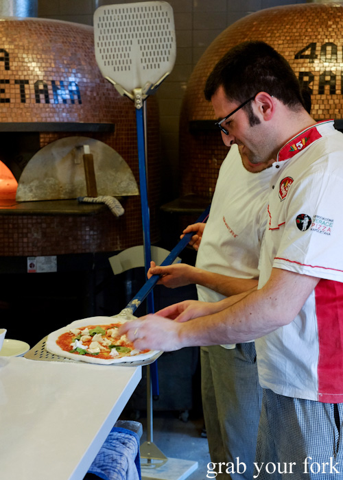Making pizza at 400 Gradi, Brunswick