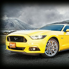 2015 Ford Mustang GT 5.0 is 50 #50thAnniversary #Ford #Mustang #tripleyellow. Photo credit: Brad Dewey www.imaginethphotography.com
