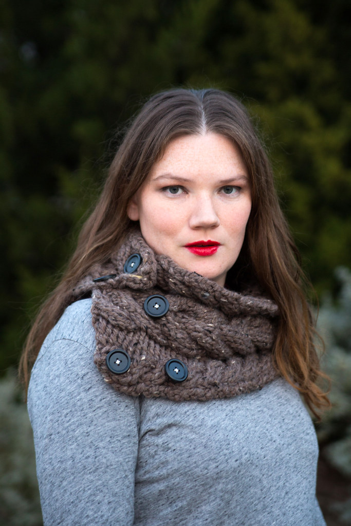 Cozy Button Scarf