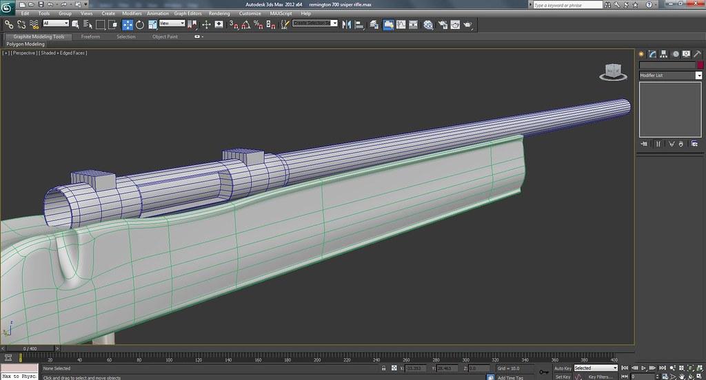 Remington 700 Sniper Rifle Work In Progress Wire Frame Screenshots