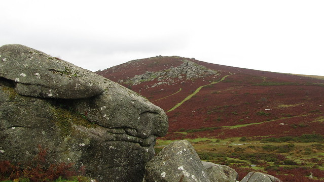 Barnhill Rocks, looking to Bell Tor and Chinkwell Tor
