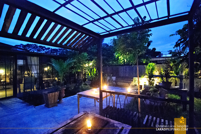 Outdoor Garden at The Souq Restaurant in Pampanga