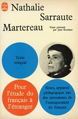 Livre de Poche - Nathalie Sarraute - Martereau