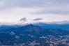 雪雲に隠れる武尊山@水沢山山頂