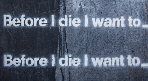 Before I die I want to _____