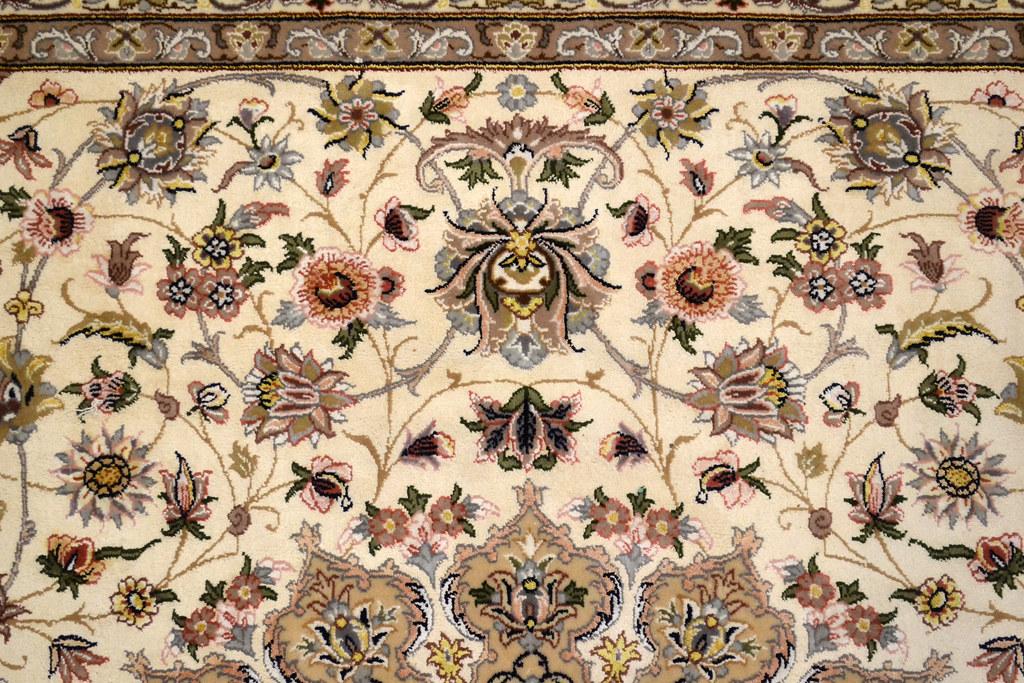Pair Isfahan Esfahan Kaf Abrisham 7x10 persian Fine Area Rug (9)