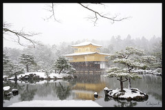 日本京都-金閣寺-雪.34