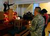Christmas Candlelight service at historic Liberty Church.
