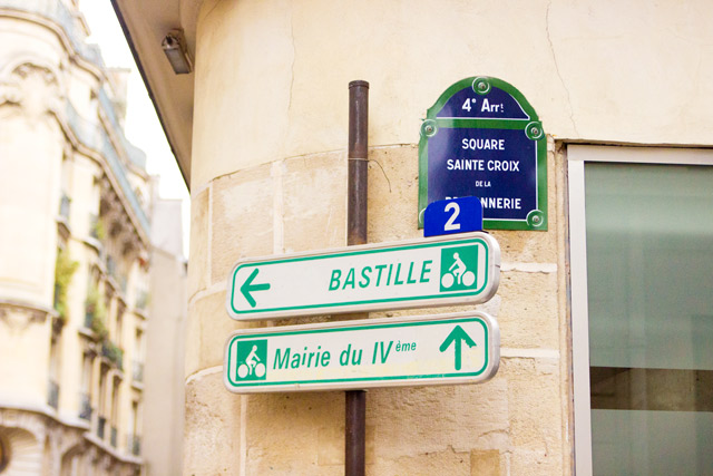 Bastille sign Paris