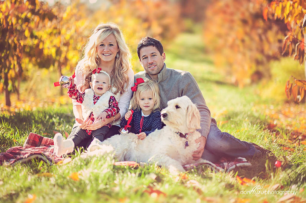 Fall family portraits celebrating one year old in Grand Rapids, Michigan