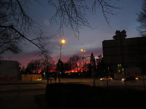 city morning school winter sky urban night sunrise munich münchen