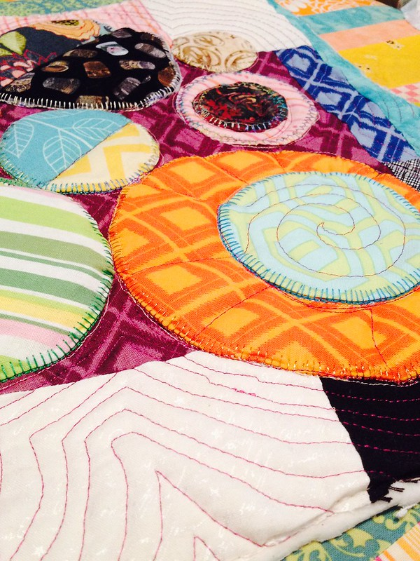 Detail of quilted bubble block