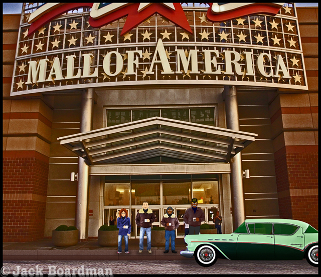 Coopers and McIntyres arrive at the  Mall of America