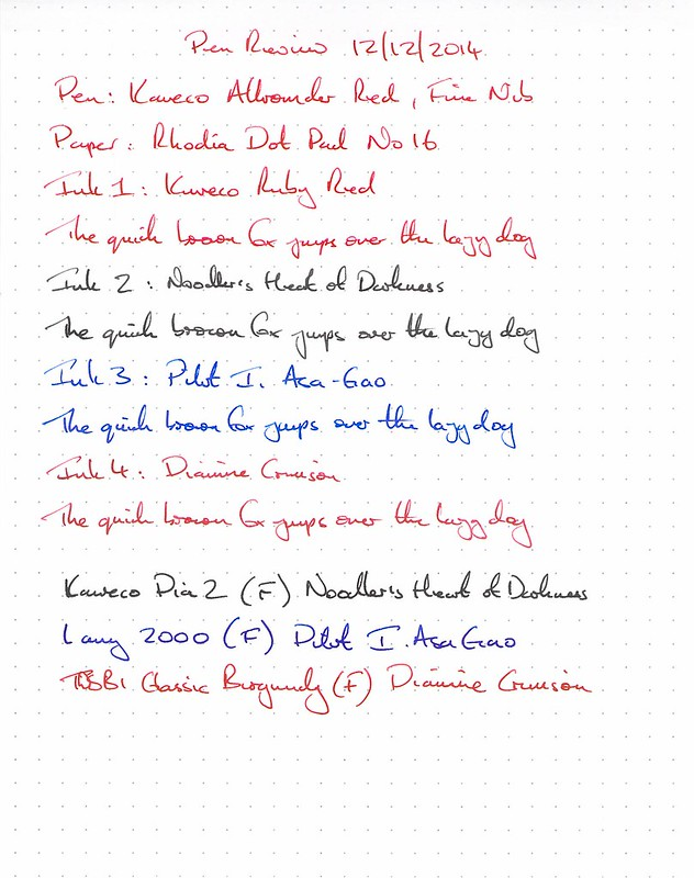 Kaweco Allrounder Red Fine Nib - Rhodia Dot Pad
