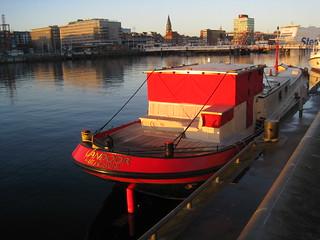 auch im Dezember kann es noch leuchten....Kieler Hafen