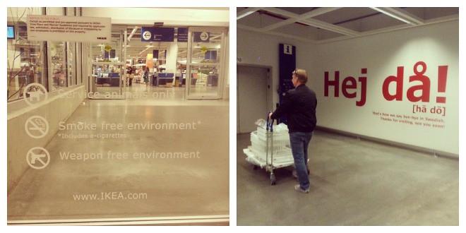 IKEA - Weapon free environment - Hej då!
