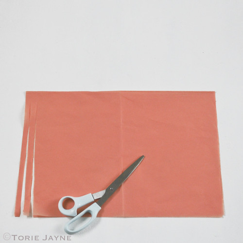 Tissue paper tassel garland tutorial 3