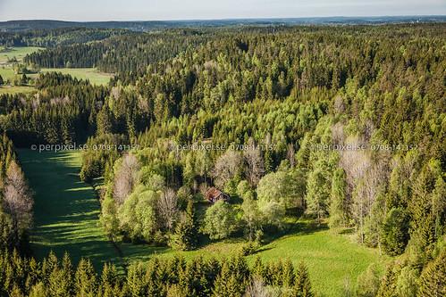 natur sverige swe västragötaland flygfoto stigen lillesäter