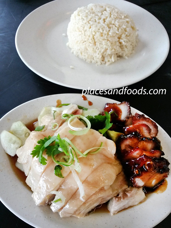 kar heong taman connaught chicken and char siew rice