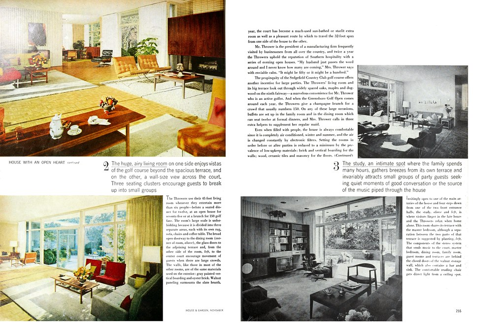 Thrower Residence, Sedgefield, NC, 1962 (Page 2 of 4)