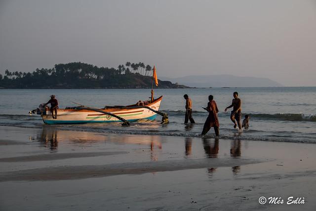 Pescadores en Palolem