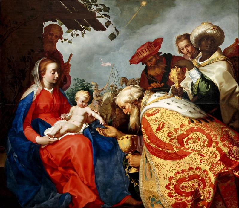 Abraham Bloemaert - The adoration of the Magi (1624)