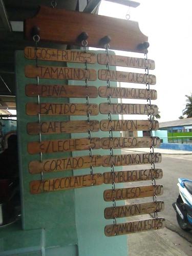 The Even cheaper menu in Nacionales.  Varadero, Cuba.