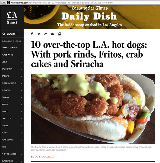10 Over-The-Top Hot Dogs, L.A. Times