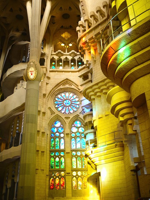 Spain Barcelona La Sagrada Familia inside 2