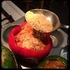 #CucinaDelloZio - #homemade #StuffedPeppers - #peperoni #imbottiti - sprinkle w/breadcrumbs