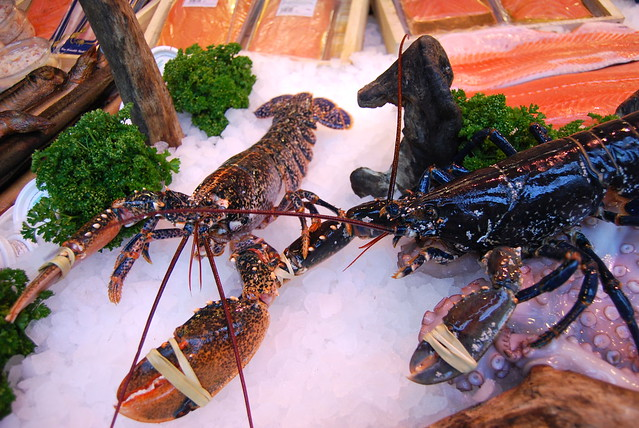 Lobsters at Furness Fish, Borough Market