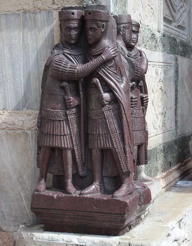 The Tetrarchs, a porphyry sculpture at St. Marks, Venice