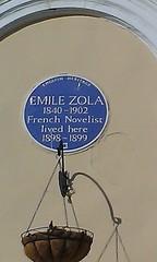 Photo of Emile Zola blue plaque