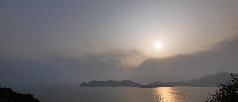 sunset of Cape D' Aguilar