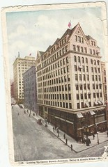 Looking up Cheery Street- Seattle- Lowman, Bailey & Alaska Bldgs- 1907