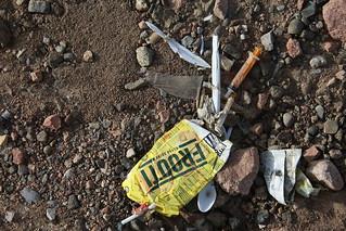 Artistic trash in Chimgan