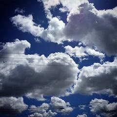 Puff clouds waving