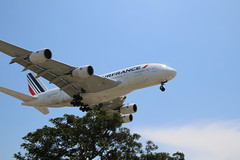 Air France A380-800 Landing - Plane Watching at In-N-Out Burger near LAX (Los Angeles International Airport) - Tuesday June 21, 2016