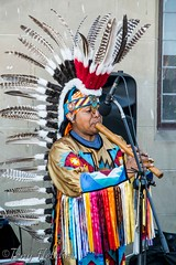 'NATIVE AMERICAN MUSIC' - 'PAN PIPE / FLUTE MUSIC' -  WHITBY AUGUST 2016