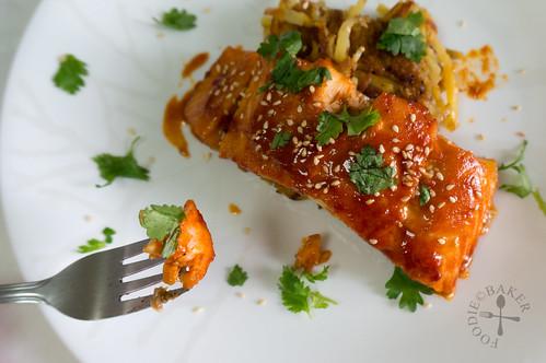Baked Spicy Korean Salmon
