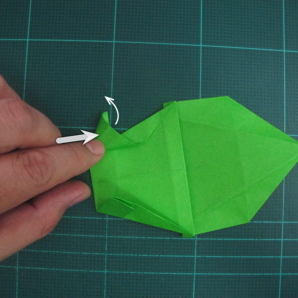การพับกระดาษเป็นรูปแรด (Origami Rhino) 019
